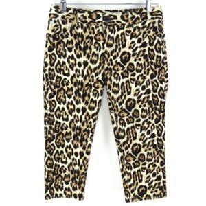ALICE + OLIVIA skinny capri pants leopard print 4